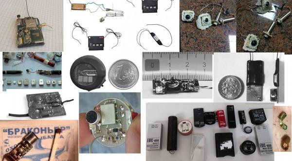 Основные типы прослушивающих устройств